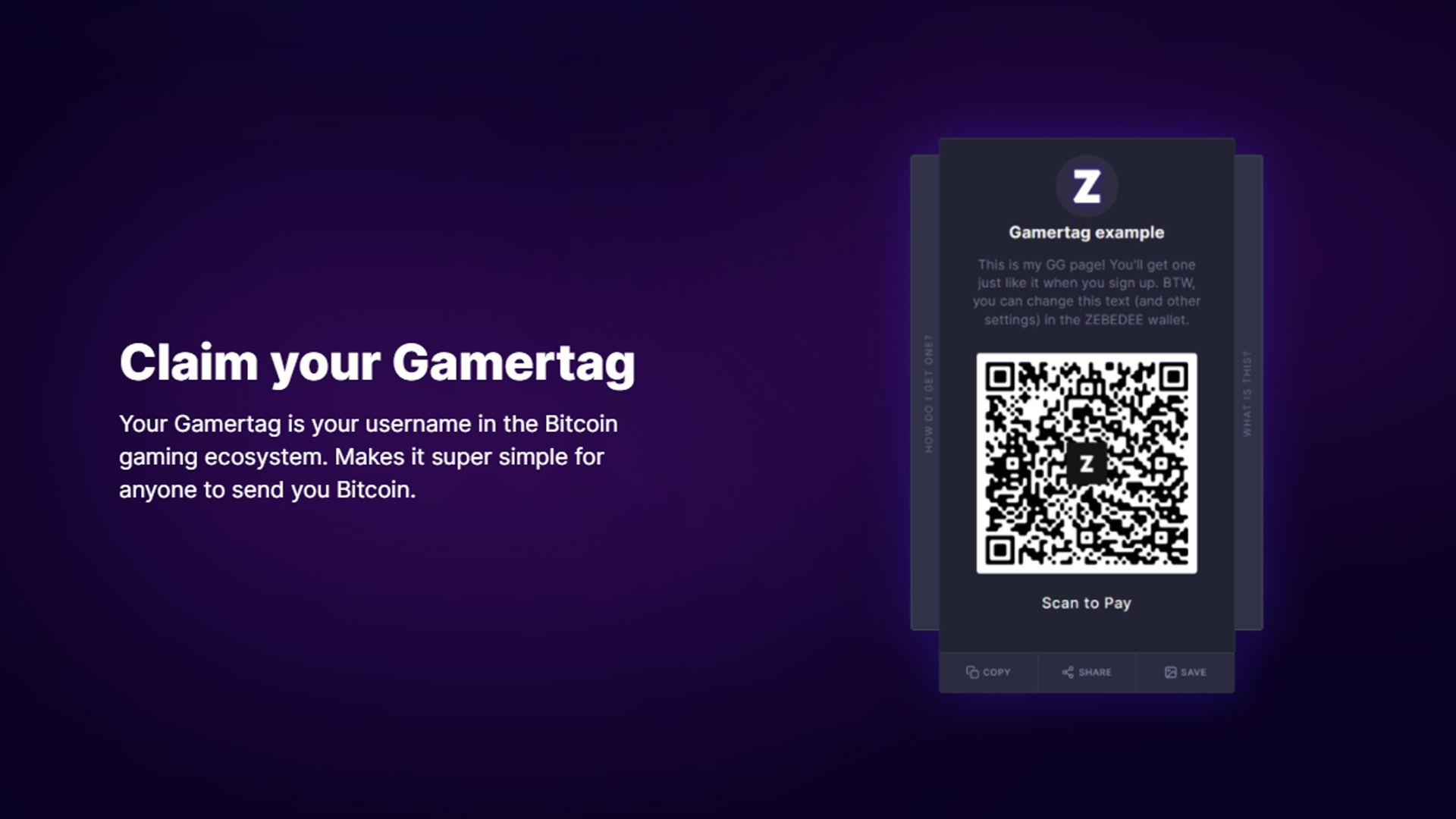 The Gamertag: The easy way to transact with anyone on ZEBEDEE