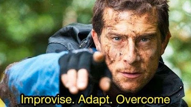 Improvise in CS:GO to increase your chances for victory.